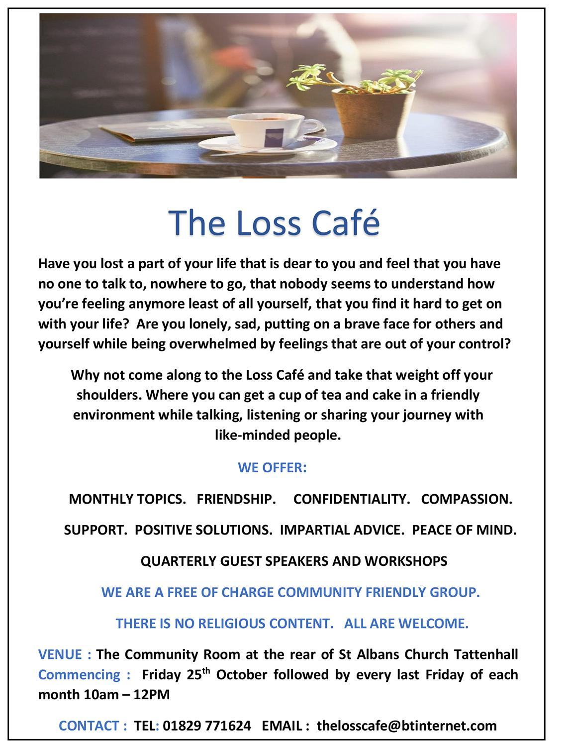 Loss Cafe Flyer