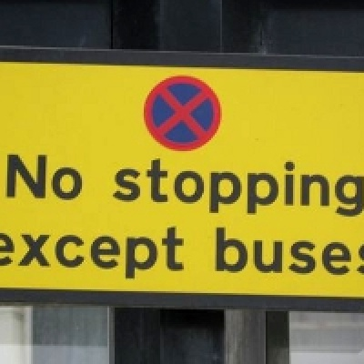 no stopping sign except buses
