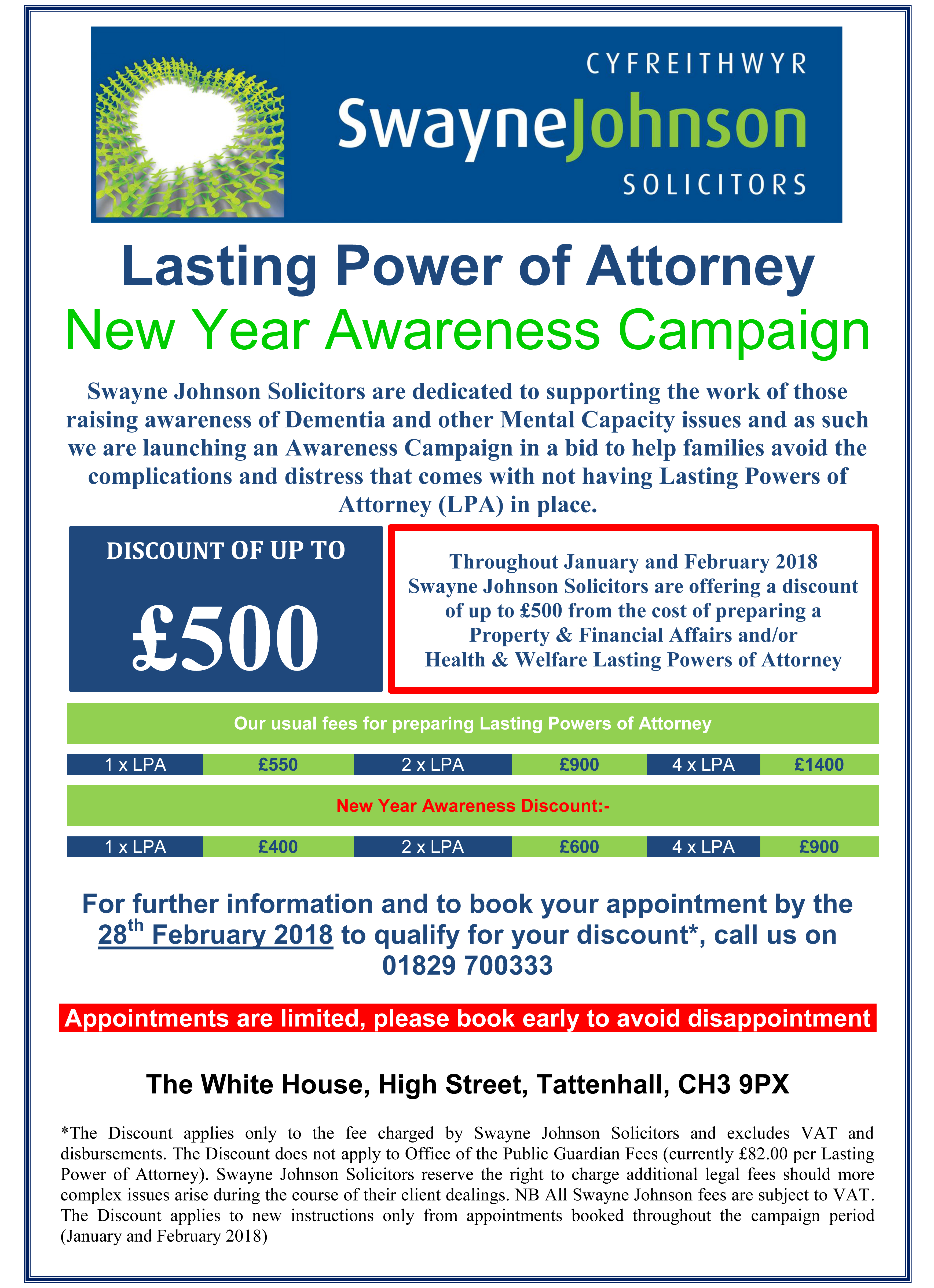 Poster A4  Lasting Power Of Attorney tattenhall January 2018