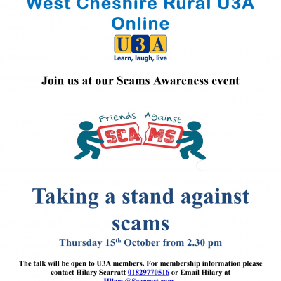 Scams Awareness U3A