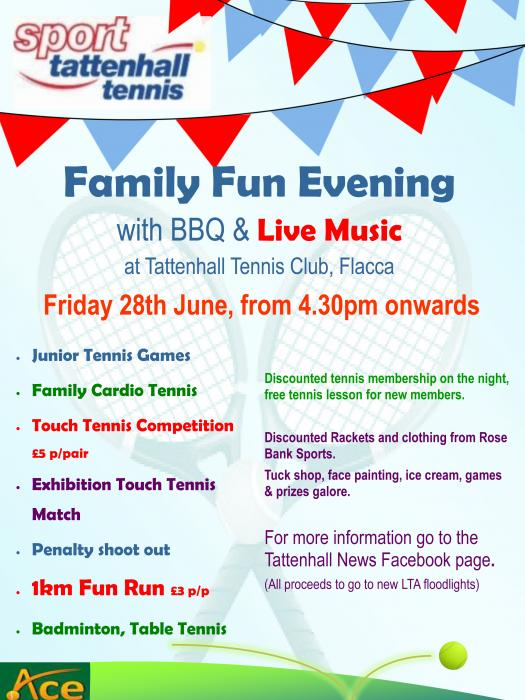 Tennis Flyer 28th June 2019