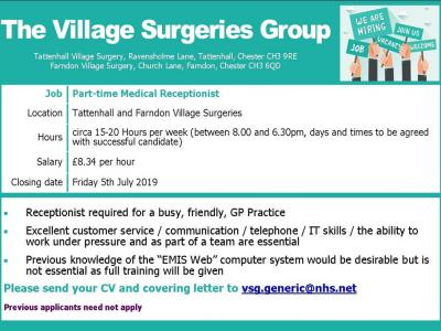 VSG job advert